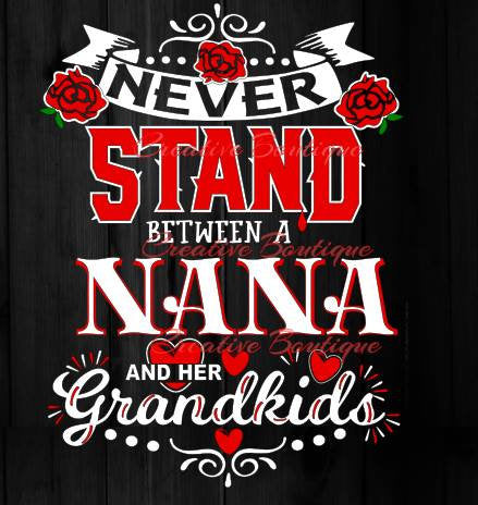 Never Stand Between SVG cutting file Silhouette Cricut vector image