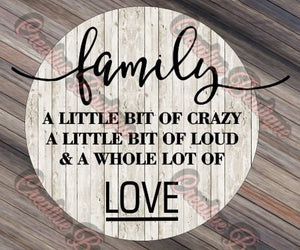 Family a Little Bit of Crazy SVG Cutting File Cricut Silhouette