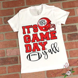 It's Game Day Y'all - Helmet - Add Your Own Monogram