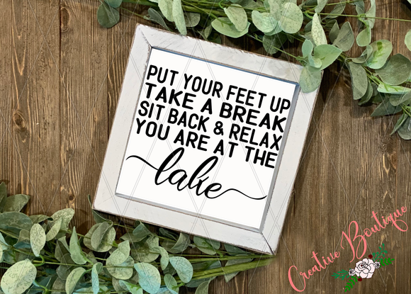 Put Your Feet Up - Lake