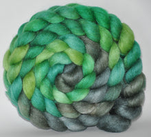 50/50 18.5m Merino/Tussah Silk Roving Hand Dyed  5.35  ounces - Dreamland Combed Top