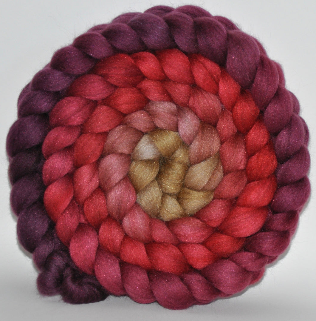 20.7 Micron Haunui NZ Halfbred/A1+ Mulberry Silk Combed Top 5.16 Ounces - Autumn Angel Roving