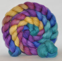 Merino & Tussah silk (50/50) Roving Hand Dyed  5.15 ounces - Crown Jewels Combed Top