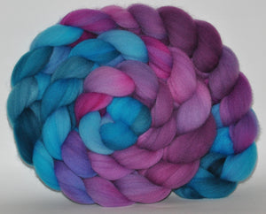 Targhee Hand Dyed Roving - 5.23 ounce - Bigger on the Inside Combed Top  - ooak