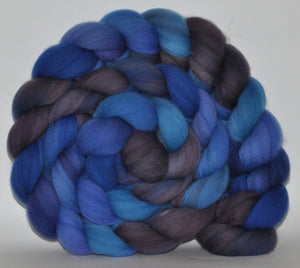 Targhee Hand Dyed Roving - 5.3 ounce - Through Time and Space Combed Top  - ooak