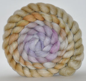 Haunui New Zealand Halfbred / Mulberry Silk  Roving Hand Dyed  5.17 ounces - Lost in a Dream Combed Top