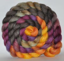85/15 Polwarth/Tussah Silk  Hand Dyed Roving - 5.12 ounce - Spectre  Combed Top