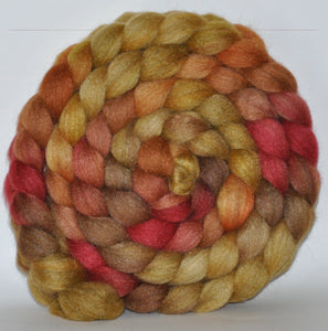 85/15 Blend of BFL/Tussah Silk  Hand Dyed - 5.37 ounce -  Good-Bye Yellow Brick Road  Combed Top