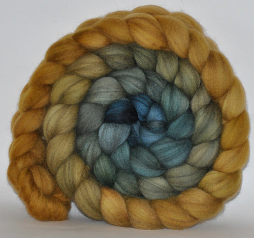 Merino & Baby Camel (50/50) Roving Hand Dyed  5.31 ounces - Open Secret Combed Top