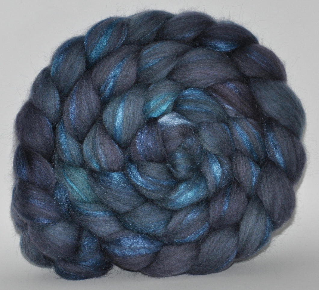 70/30 Grey Merino/Tussah Silk Hand Dyed Roving 3.86 oz. Ready Teddy  Combed Top