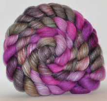 Haunui New Zealand Halfbred / Mulberry Silk  Roving Hand Dyed  5.26 ounces - Shamanic Journey Combed Top