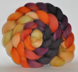 Targhee Hand Dyed Roving - 5.12 ounce - Jelly Babies Combed Top  - ooak