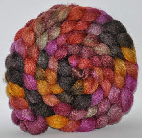 85/15 Blend of BFL/Tussah Silk  Hand Dyed - 5.2 ounce -   Dorchester  Combed Top