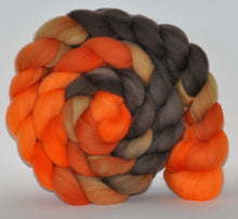 Domestic Rambouillet 21.5 Micron Hand Dyed Roving - 5.22 ounce - All Hollow's Eve  Combed Top