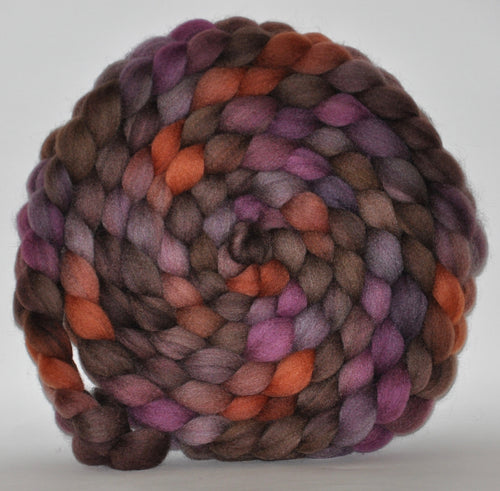 Haunui New Zealand Halfbred Wool  Roving Hand Dyed  5.34 ounces - In an Instant Combed Top