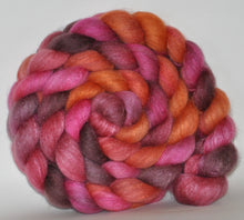 Haunui New Zealand Halfbred / Mulberry Silk  Roving Hand Dyed  5.37 ounces - Fascination  Combed Top