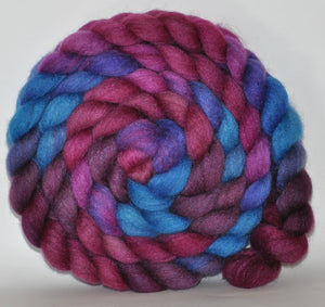 85/15 Blend of BFL/Tussah Silk  Hand Dyed - 5.25 ounce -  Sad Songs Say So Much  Combed Top