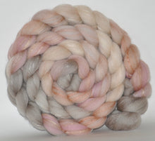 Merino/Tussah Silk 70/30  Hand Painted Roving 5.34 oz. Of Sand and Shells Combed Top