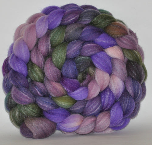 Targhee Bamboo Tussah  Hand Dyed Roving - 5.27 ounces - Romance Combed Top
