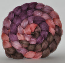 Merino & Tussah silk (50/50) Roving Hand Dyed  5.27 ounces - Spin Me Combed Top