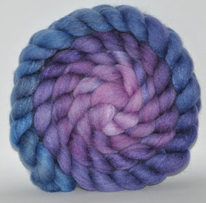 60/40 Polwarth/Tussah Silk Hand Dyed Roving - 5.15 ounce - Soft Spoken Combed Top