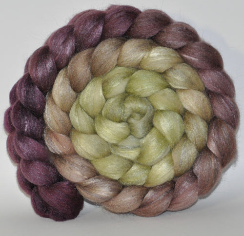 Polwarth/Tussah Silk 60/40 Combed Top  5.4 ounce Toad Hall   Roving
