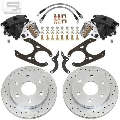 "Little Shop Mfg. Rear Disc Kit (For 10"" Drum) - 88-98 GM Truck / SUV (6-Lug)"