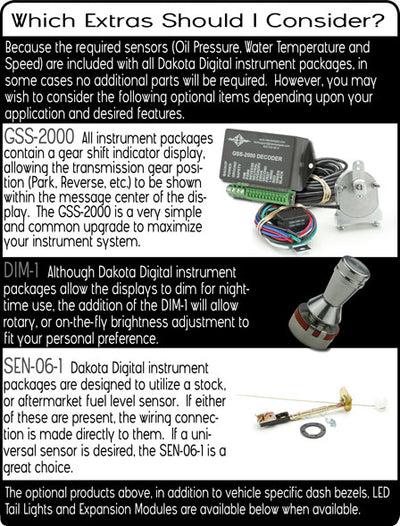 Dakota Digital VHX Universal Round Gauge Set