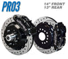 "Pro3 60-87 C10 14"" Front / 13"" Rear Brake Kit"