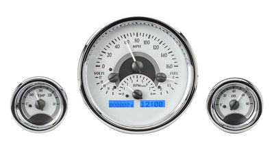 Dakota Digital VHX Universal Triple Round Gauge Set