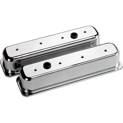 Billet Specialties Plain Valve Covers - Chevy Centerbolt