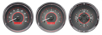 "Dakota Digital VHX Universal 5"" Round Trio Gauges"