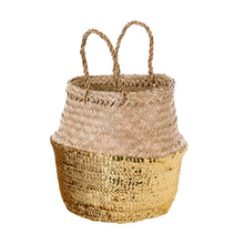 Load image into Gallery viewer, Gold Sequin Belly Basket 1-8668-3_lg