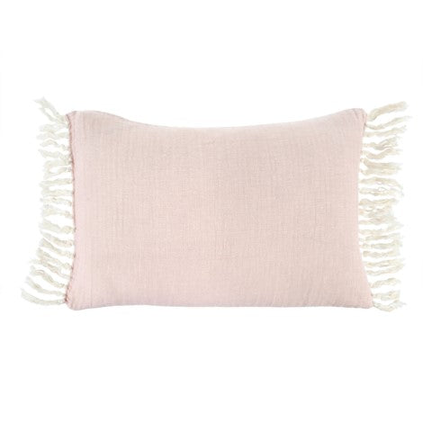 Linen Tassel Cushion 16x24 Rose 1-8392_lg