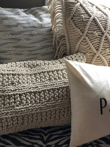 Natural cushions styled