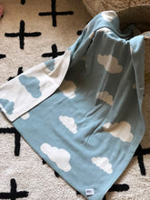 Load image into Gallery viewer, cloud baby blanket closeup