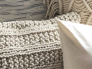 Cotton cord cushion closeup