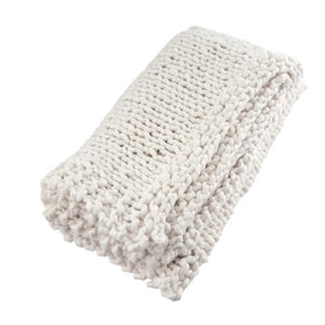 Super Chunky Woven Throw Natural