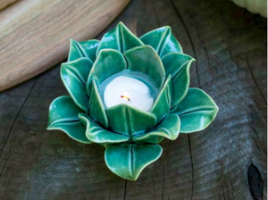 New Bloom & Sprout Tealight Holder - Greem