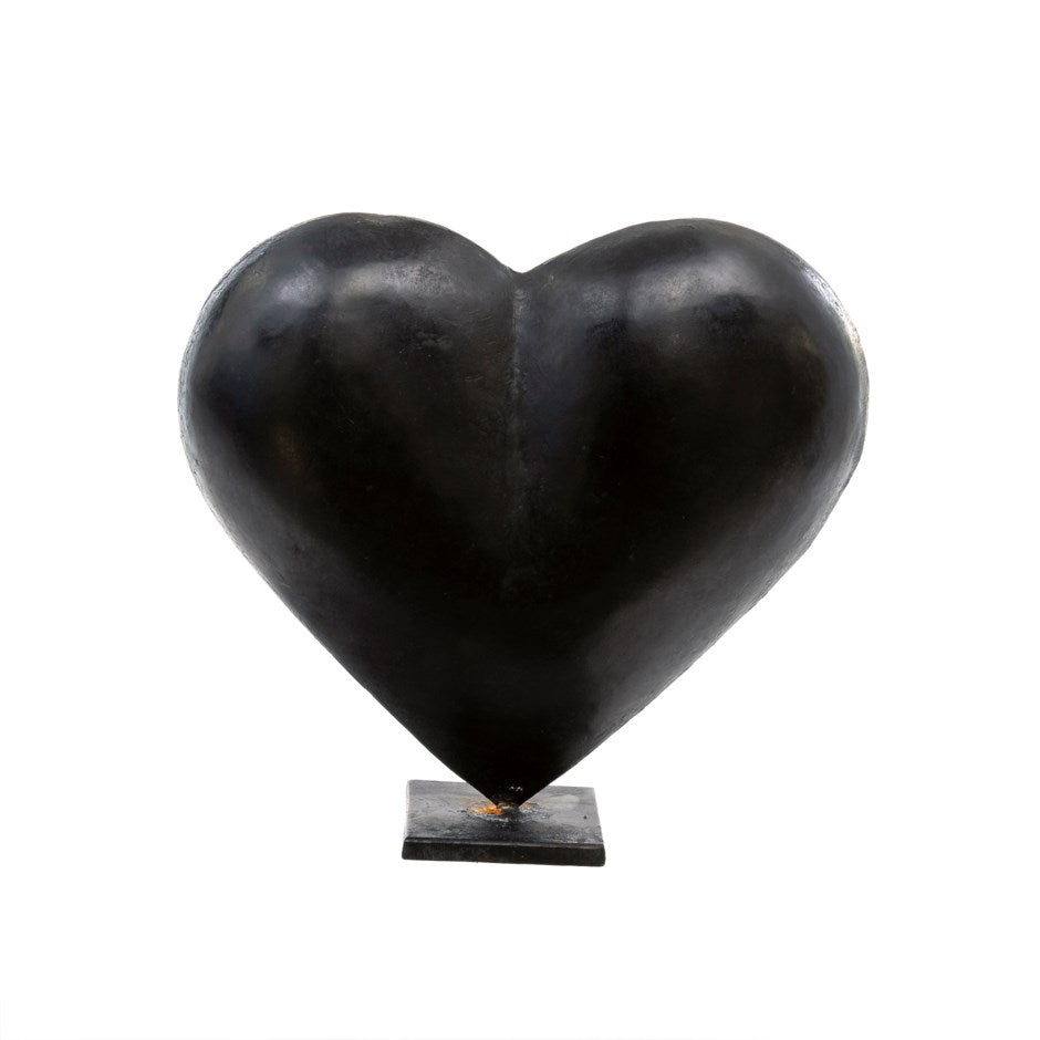 NEW Black Heart Statuettes (large and small)