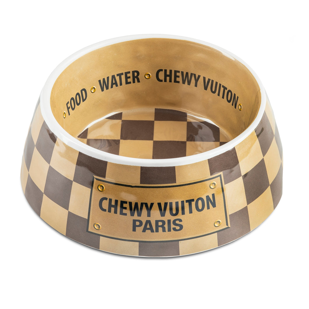 NEW Checker Chewy Vuiton Bowl