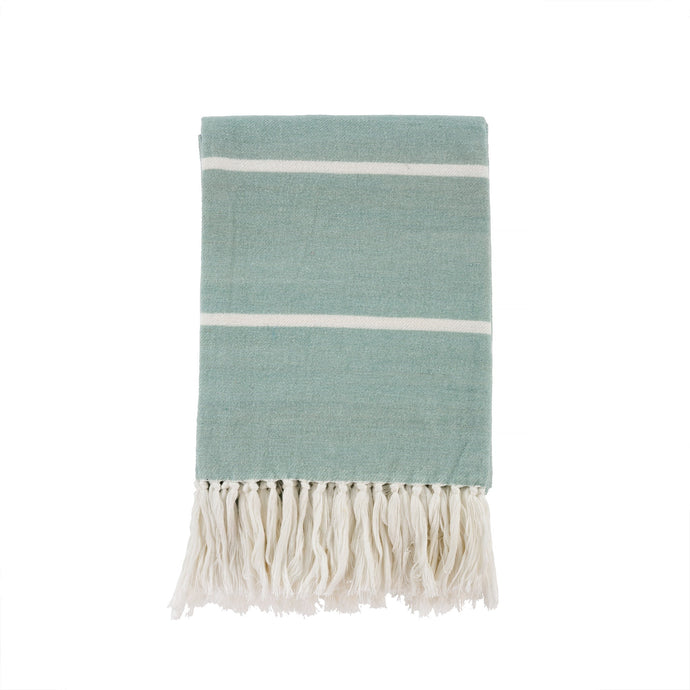 New Brushed Cotton Throw - Mint
