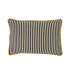 NEW Black & White Striped Toss Cushion 16x24