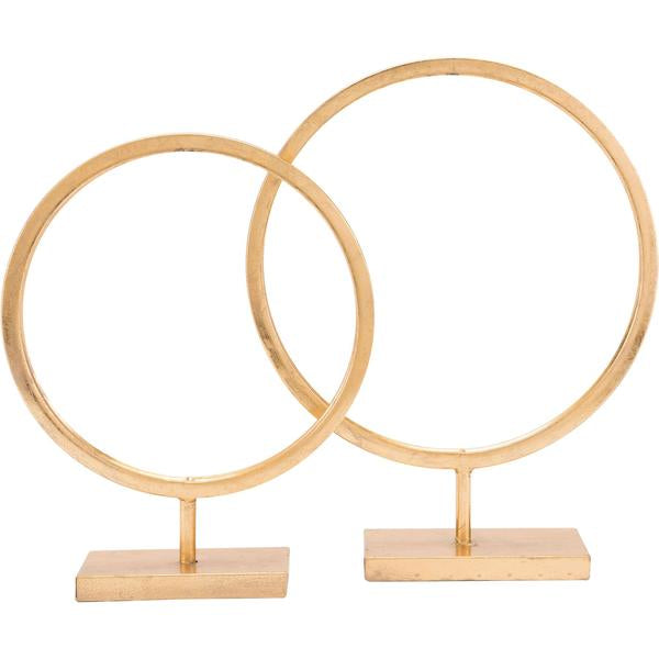 Gold Circular Sculptures