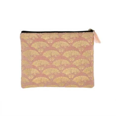 Embellished Velvet Cosmetic Pouch