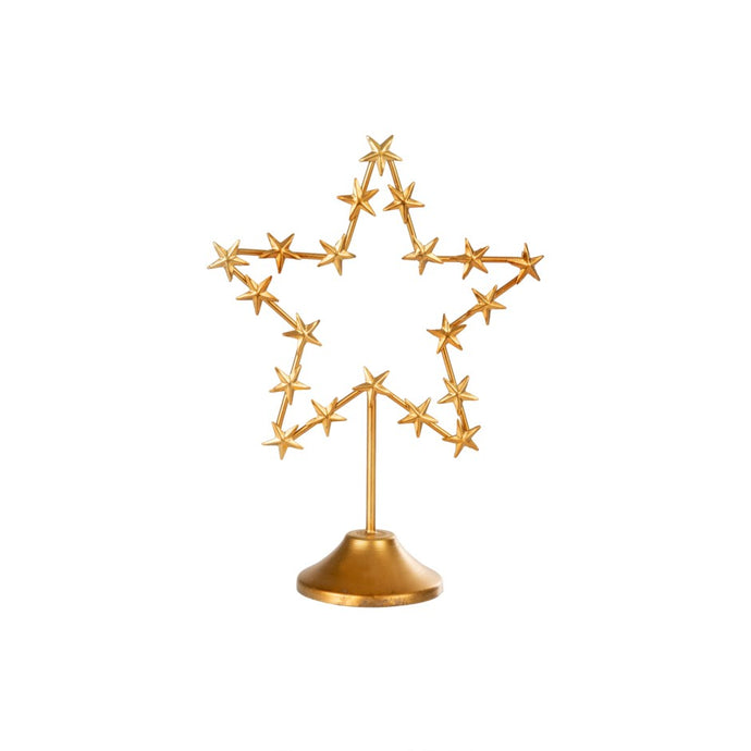 Festive Gold Shapes on Stand (Star available only)