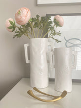 Load image into Gallery viewer, Snake Skin Textured Ceramic Vases - White