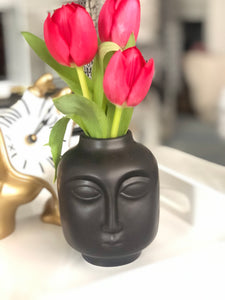"NEW ""The Pout"" Black Ceramic Mini Vase"