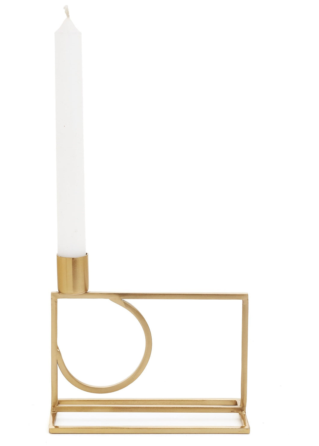 Knox Iron Brass Candle Holder