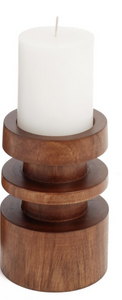 Mali Wooden Candle Holder